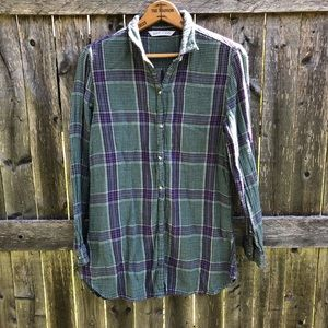 Purple and Green Woolrich Cabincore Blouse